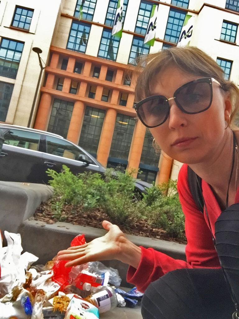 Грязь и мусор в городе Брюссель