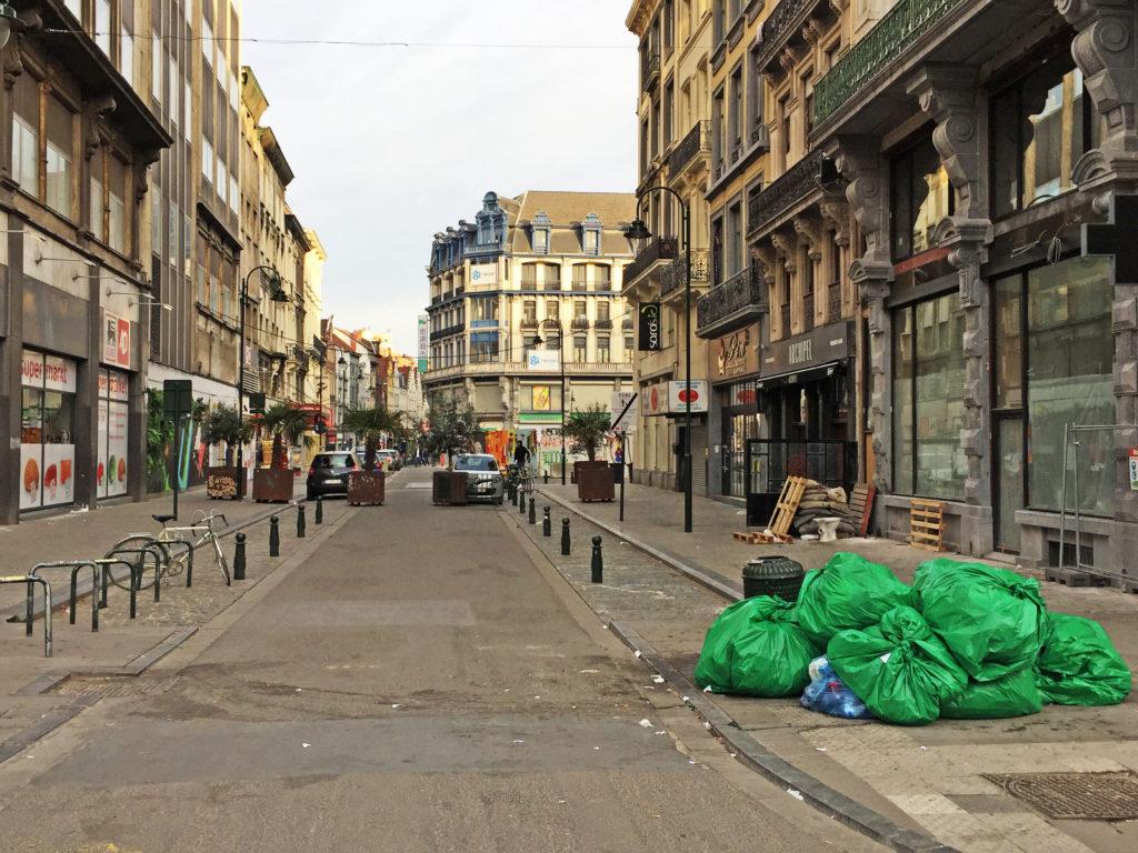 Мусор на улицах Брюсселя