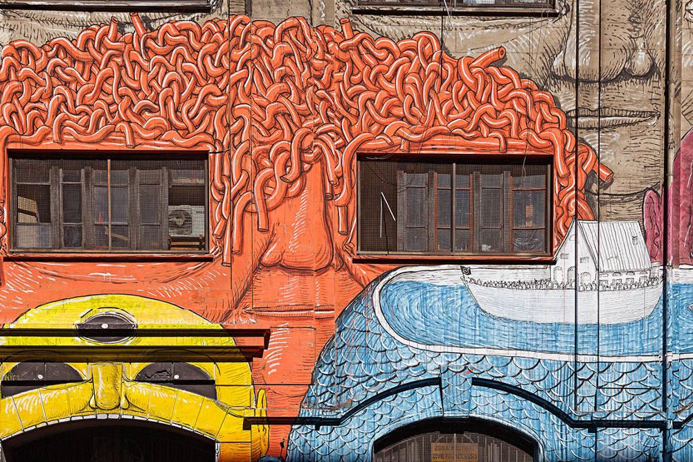 Район стрит-арта  в районе Остьенце