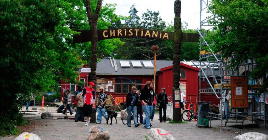 Деревня Христиания Дания Копенгаген