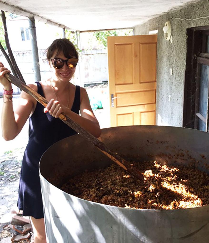 Изготовление вина в Кахетии