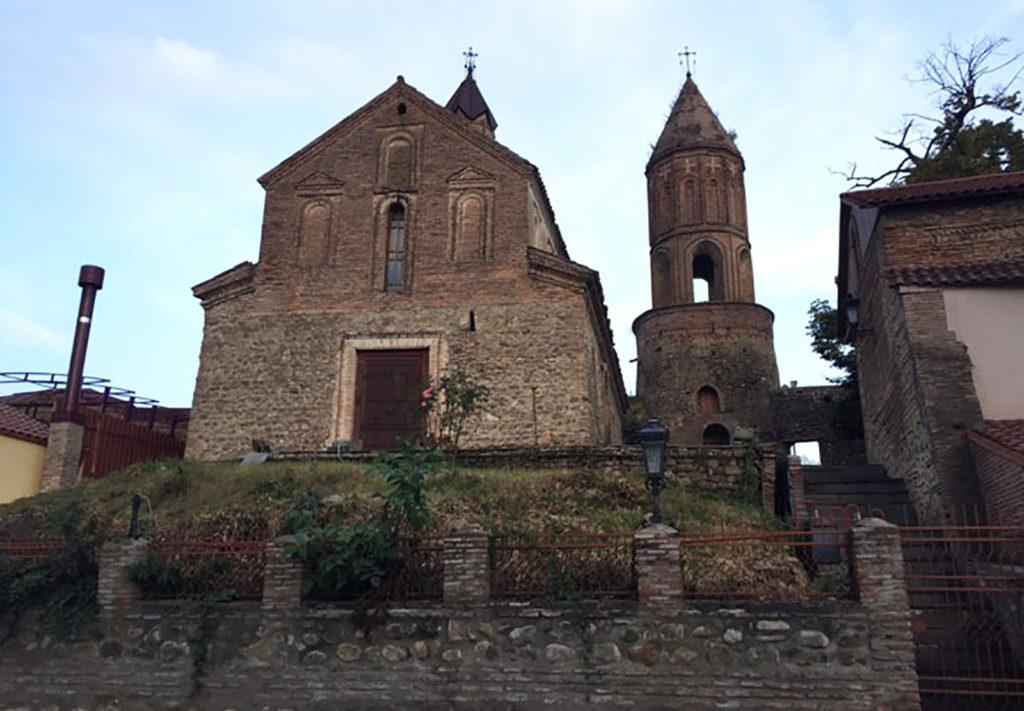 Старые здания и башни в Сигнахи Грузия